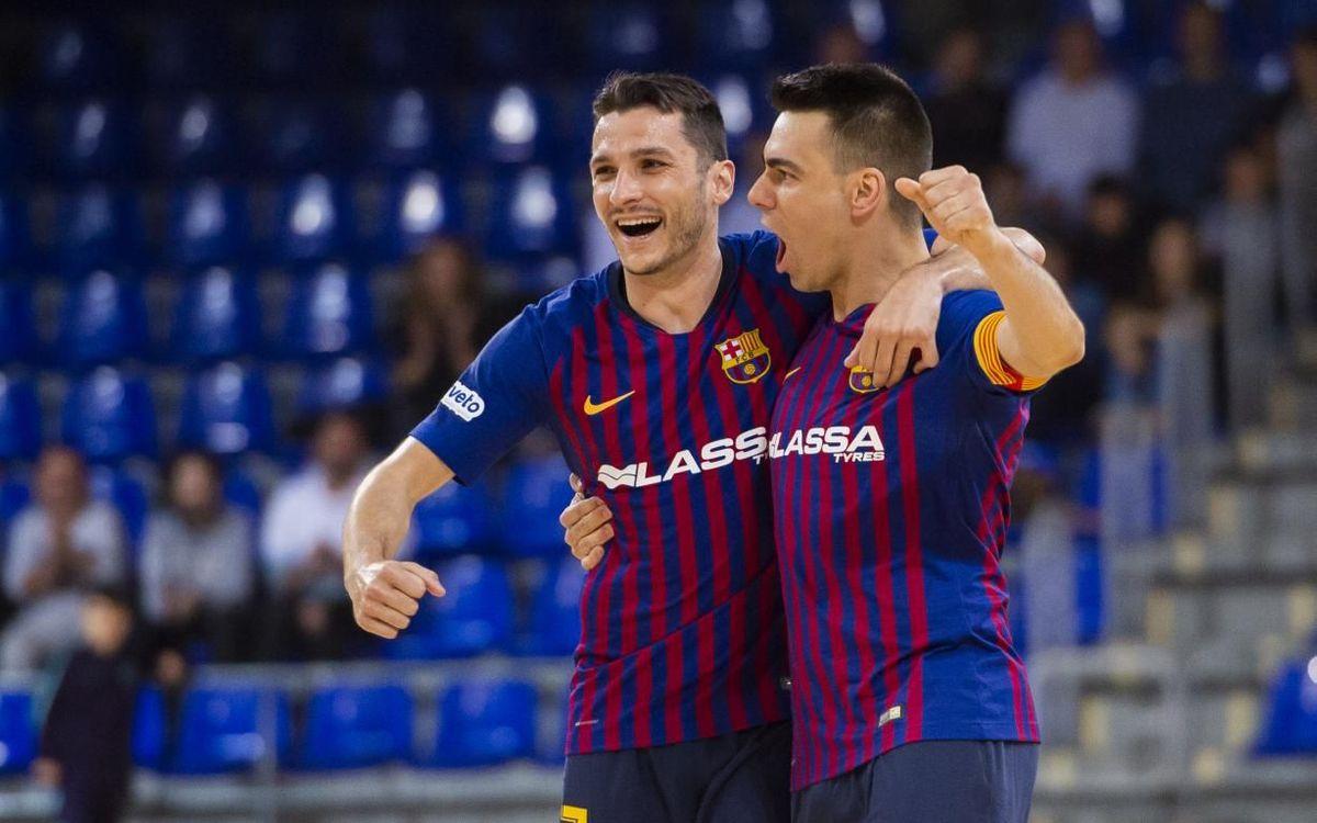 Barça Lassa – Valdepeñas: ¡Objetivo conseguido! (5-1)