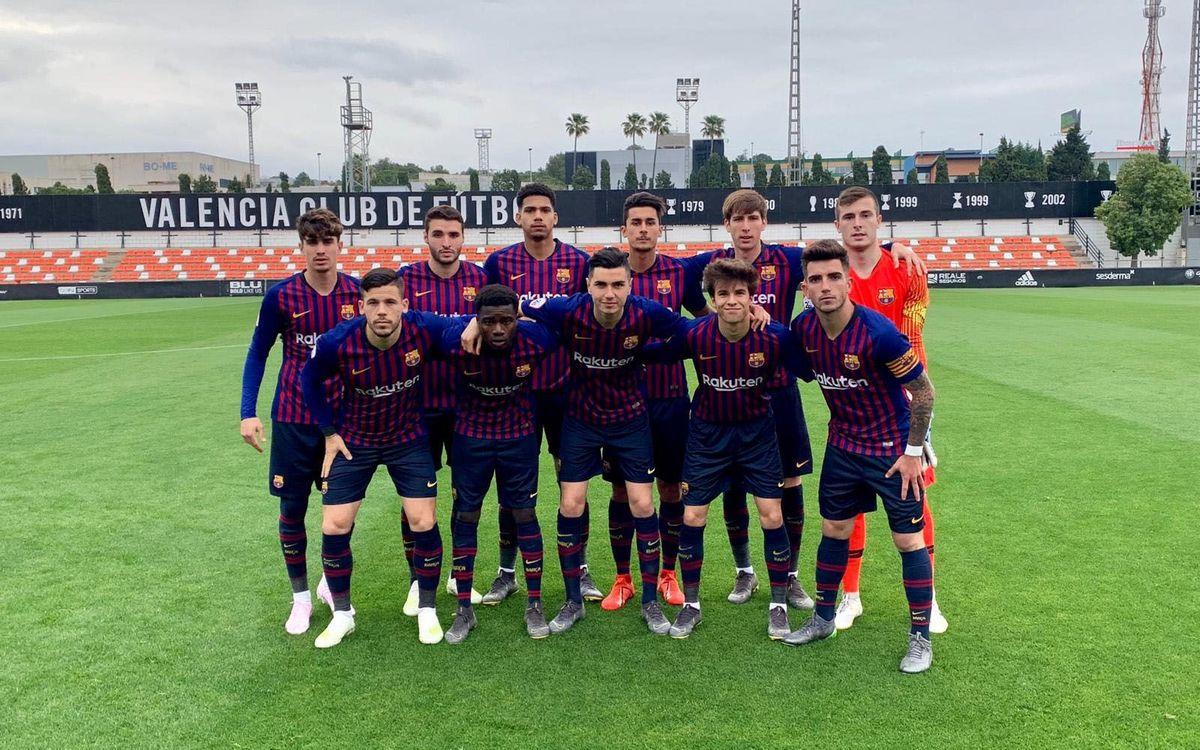 València Mestalla – Barça B: Derrota injusta (1-0)