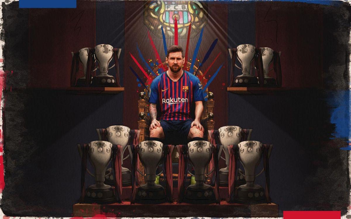 Les trophées en Liga de Messi