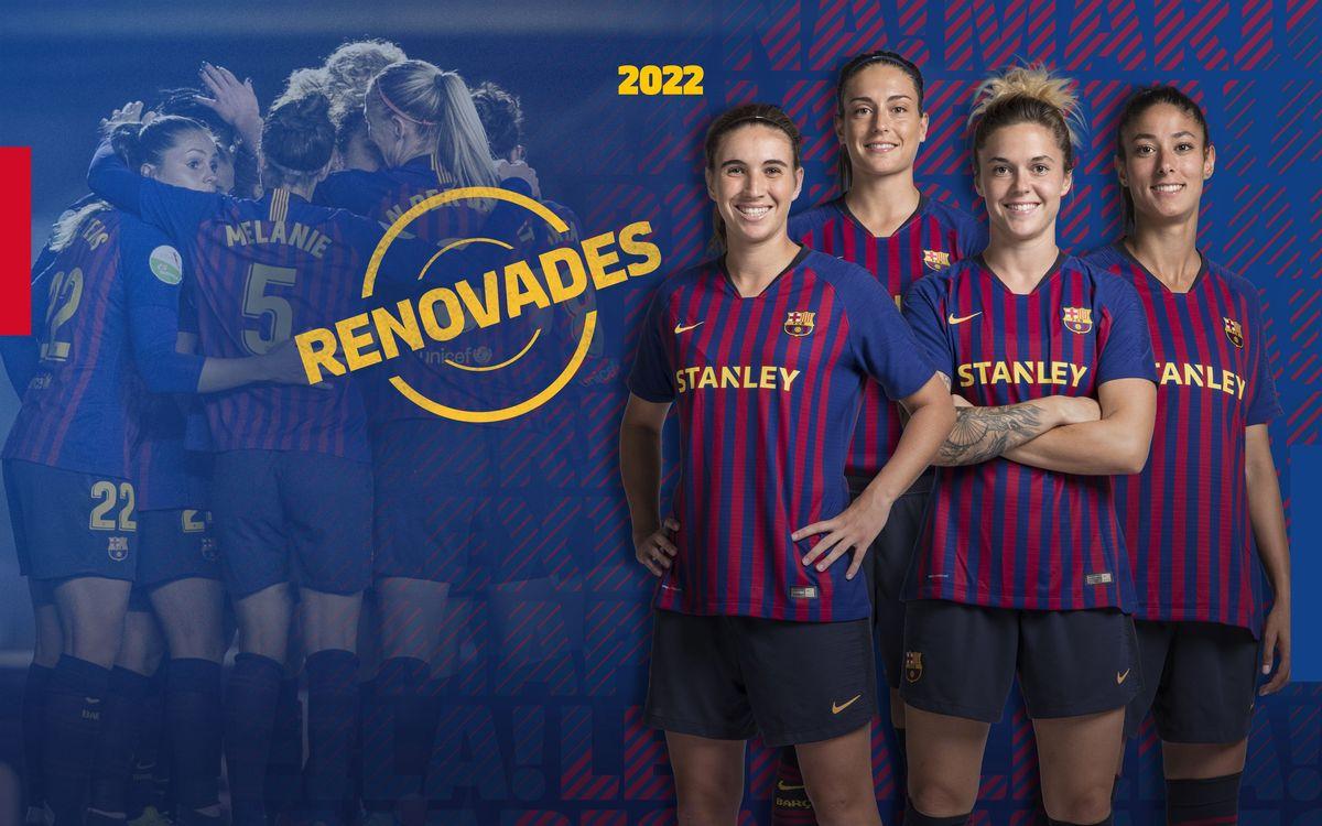 Acord per a la renovació del contracte d'Alexia, Mariona, María León i Leila