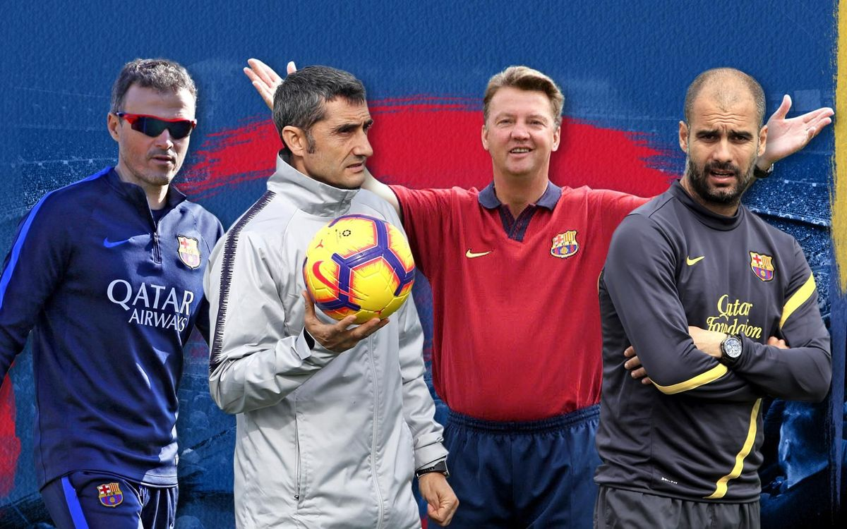 Valverde, the sixth coach to win his first two league campaigns for Barça
