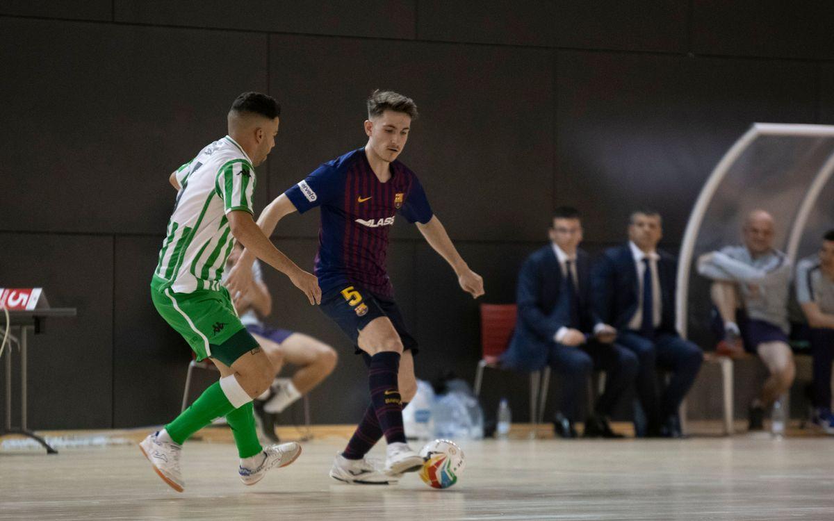 Barça Lassa B – Reial Betis Futsal: Un minut sentencia el partit (1-4)