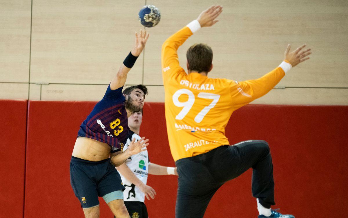 Barça Lassa B – Amenabar Zarautz: Triunfo contundente (35-24)