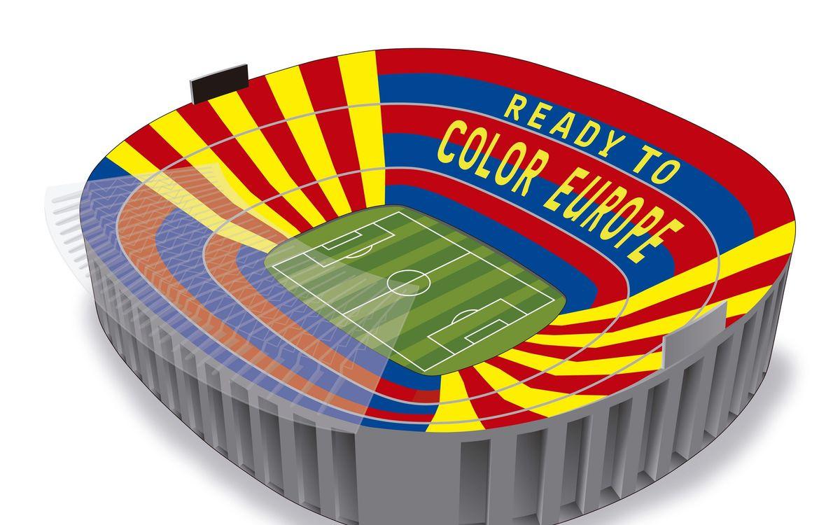Voici comment a été le tifo de Barça-Liverpool