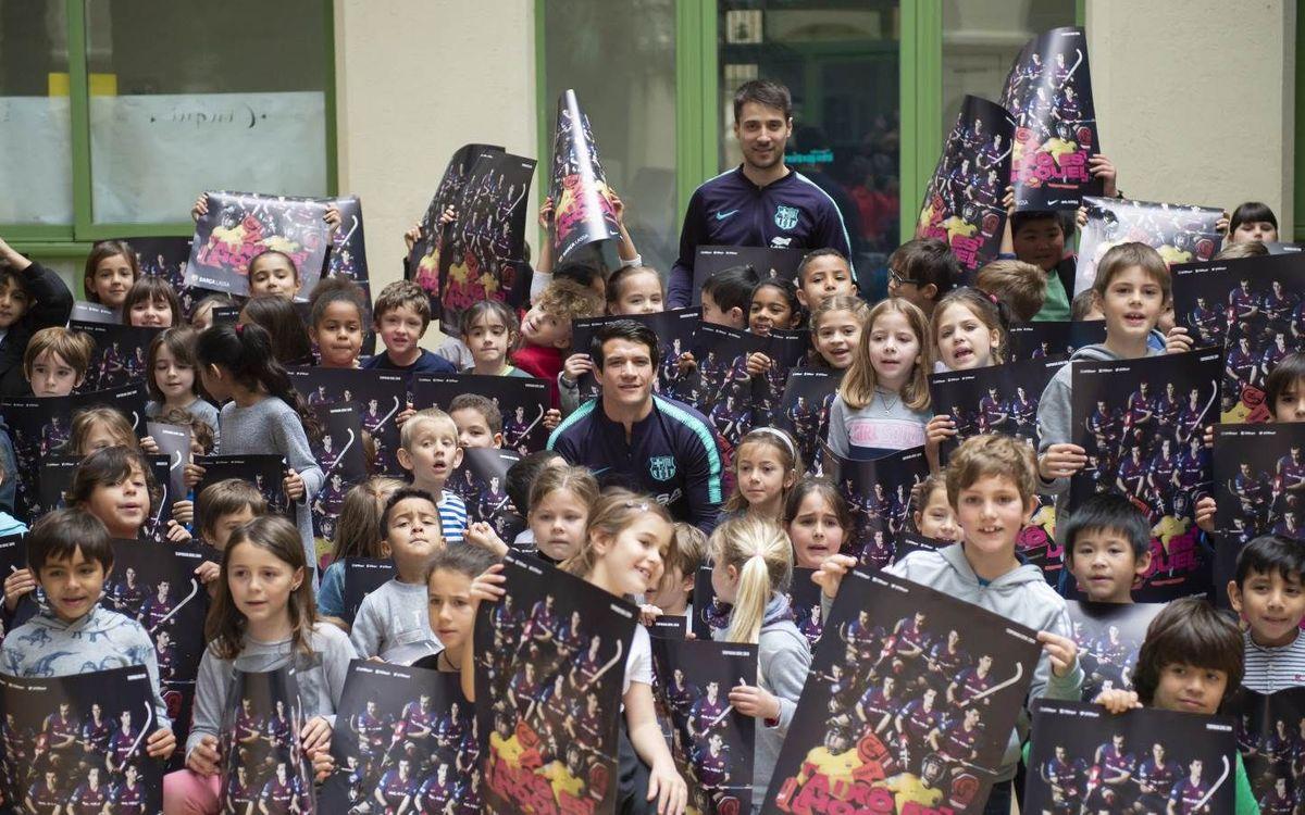 Visita amb accent argentí a l'Escola Els Llorers de Barcelona!