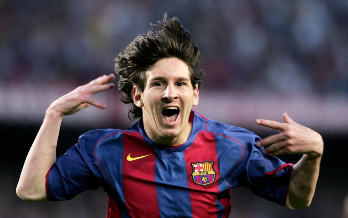14 years since Messi's first official goal with Barça