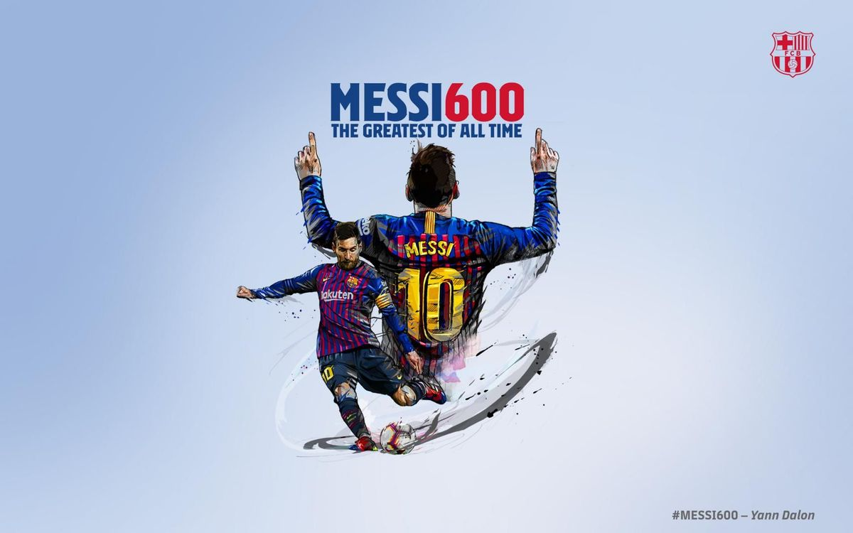 Messi reaches 600 goals for Barça