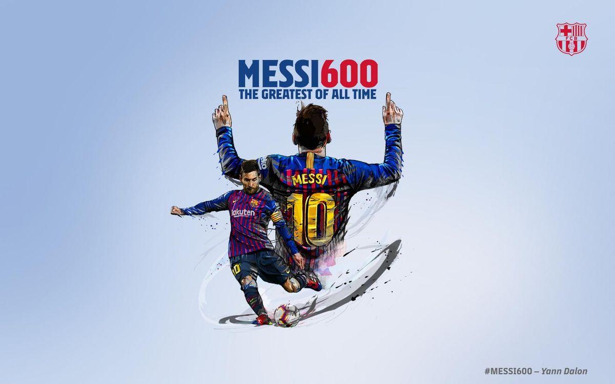 Messi llega a los 600 goles con el Barça