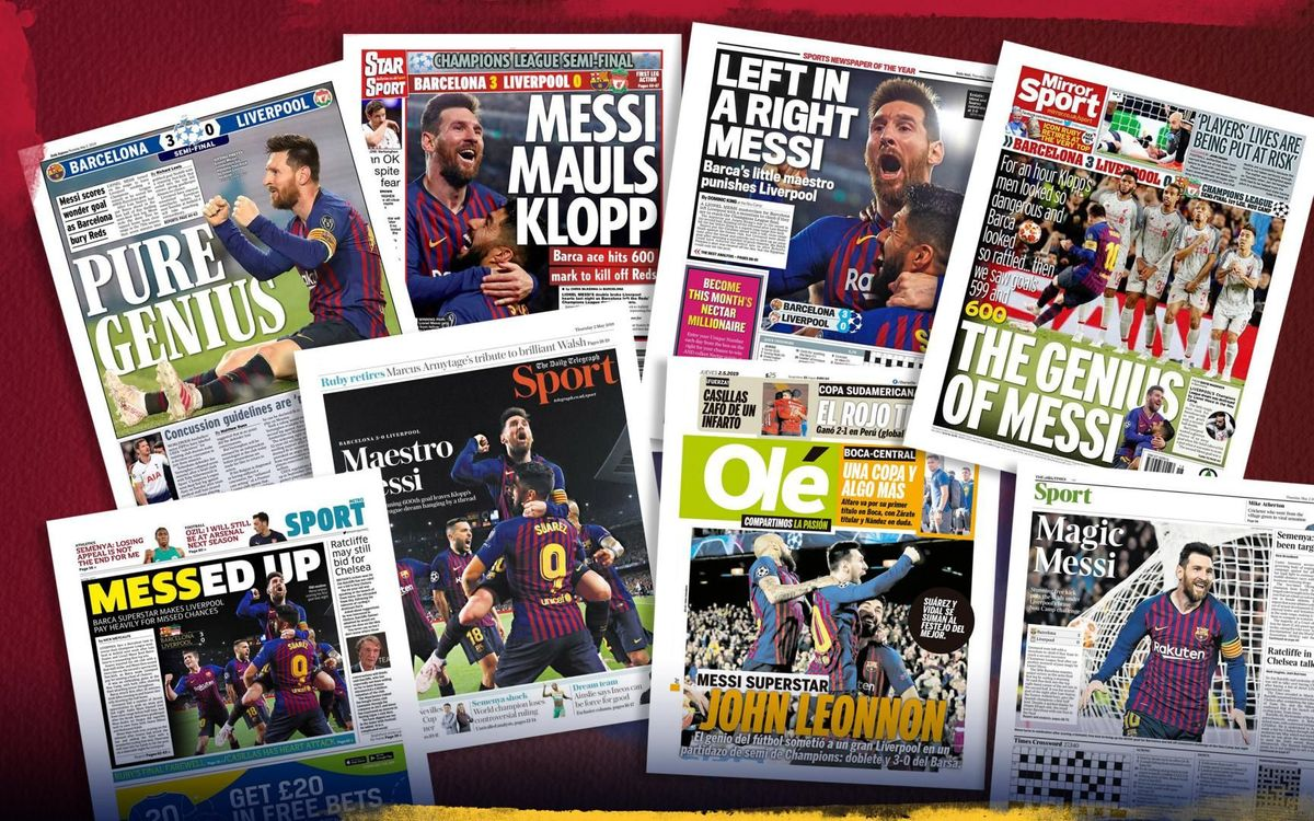The press as one: Messi's masterclass against Liverpool