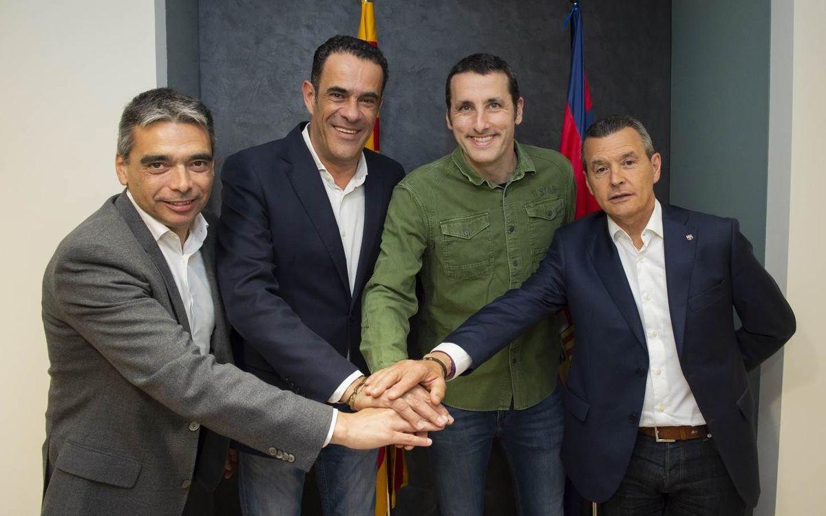 Aitor Egurrola renueva con el Barça Lassa hasta el 2020