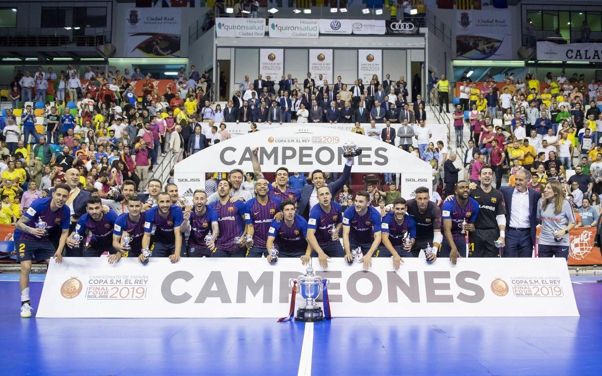 Barça Lassa - Jaén: ¡Campeones de Copa! (5-2)