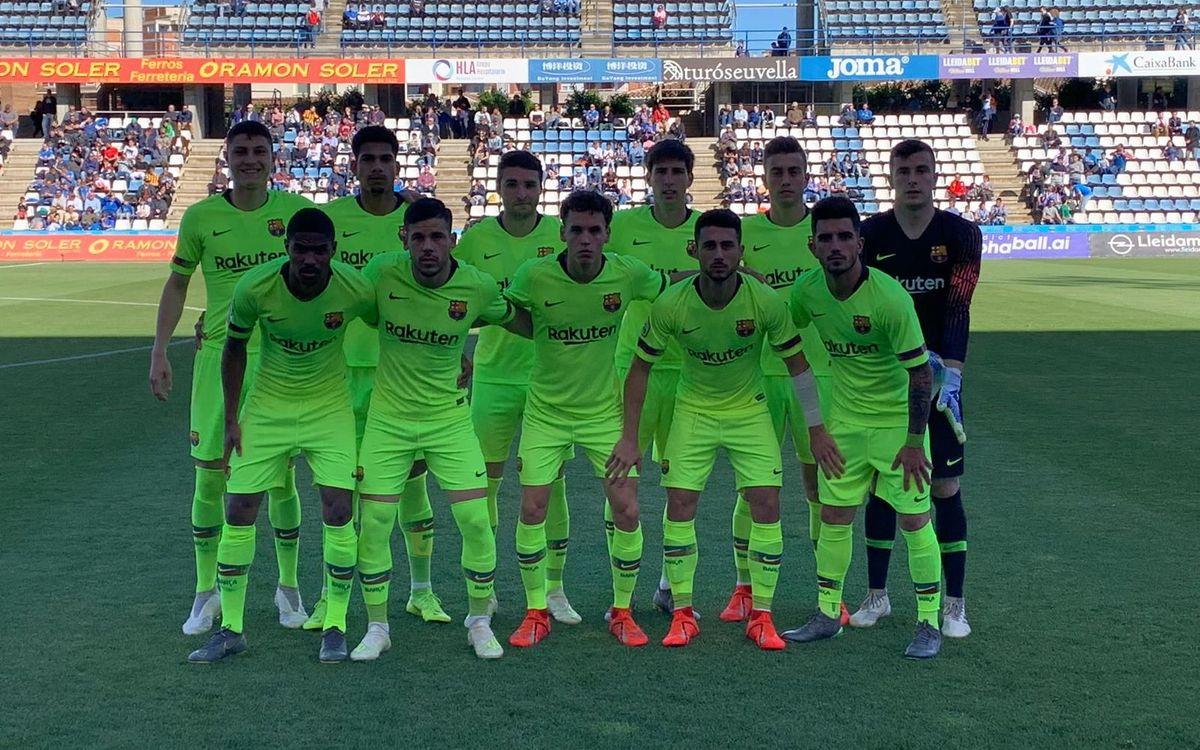 Lleida Esportiu - Barça B: No tiran la toalla (1-2)