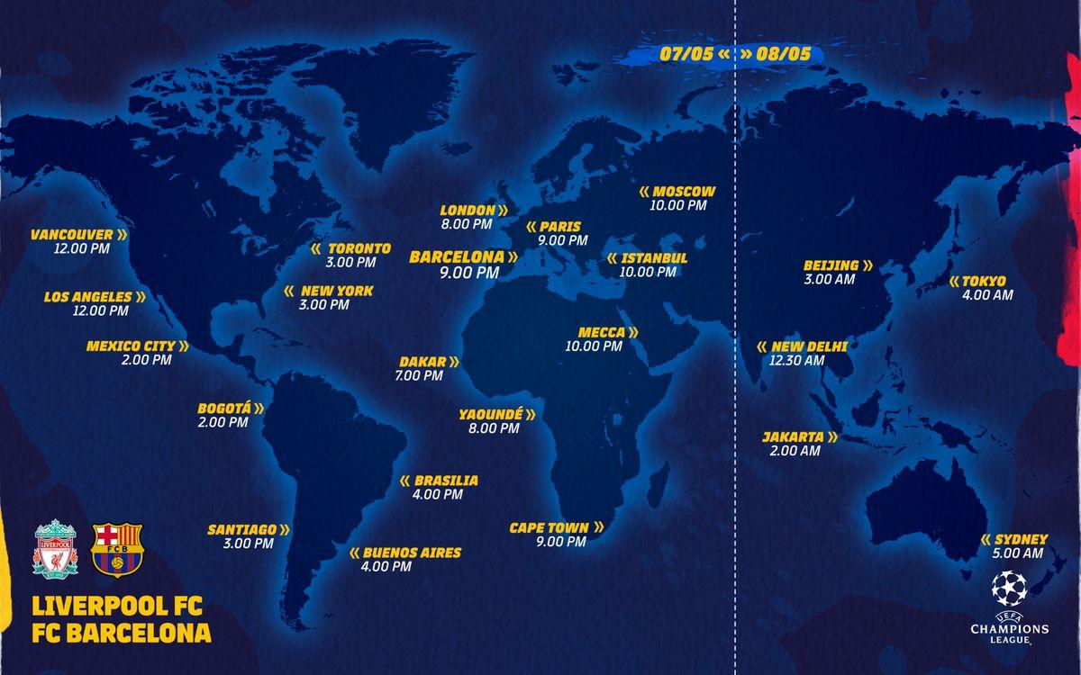 Horarios Liverpool-Barça