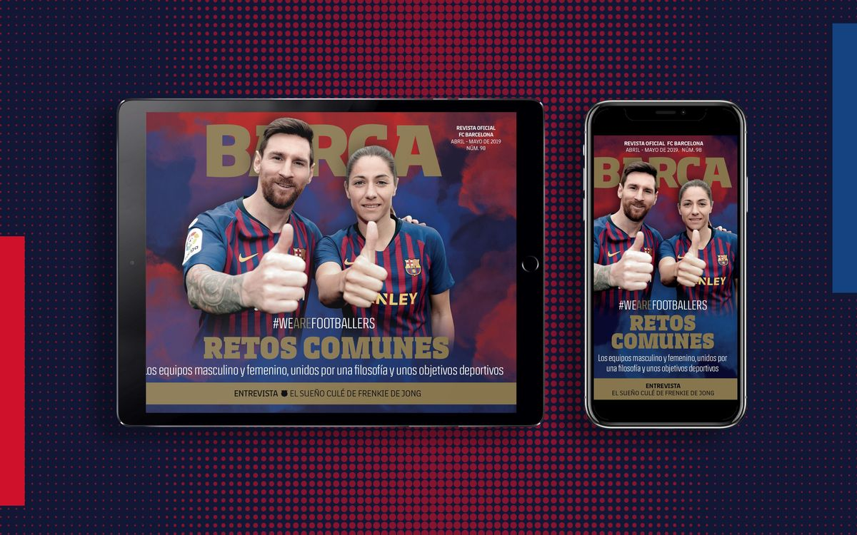 El número 98 de la REVISTA BARÇA, ya disponible en formato multimedia