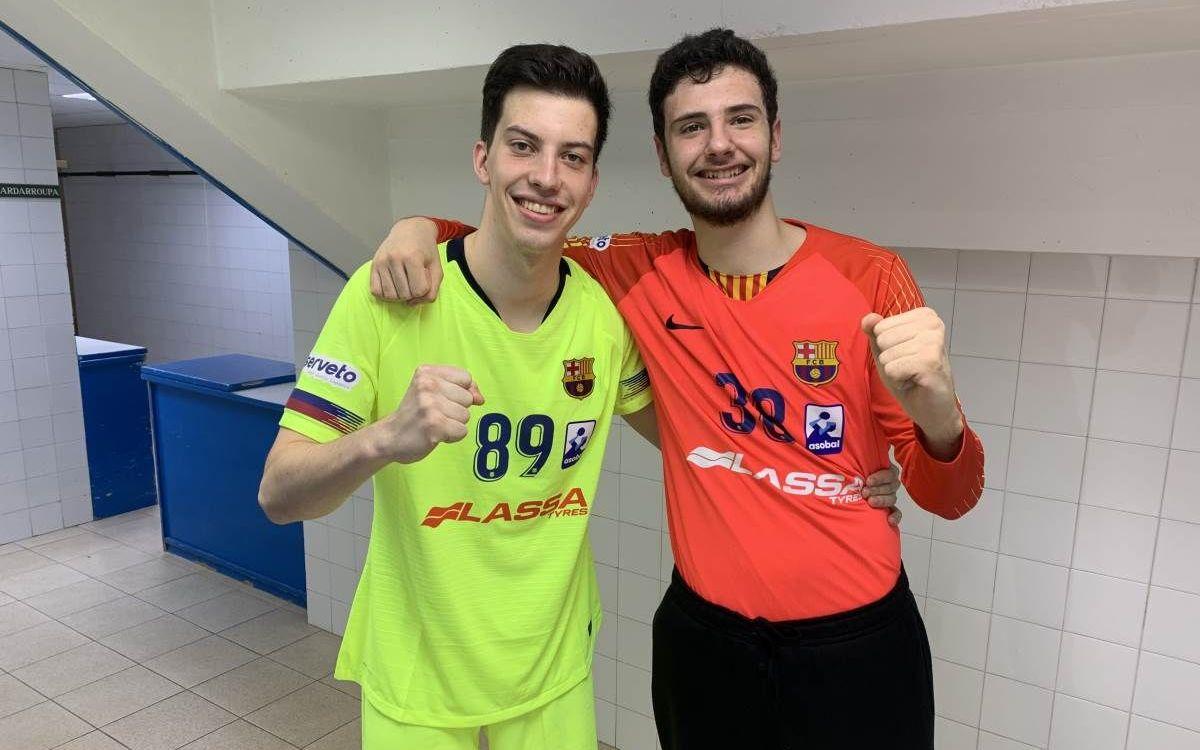 David Roca i Jorge Pérez, dos debuts més al primer equip