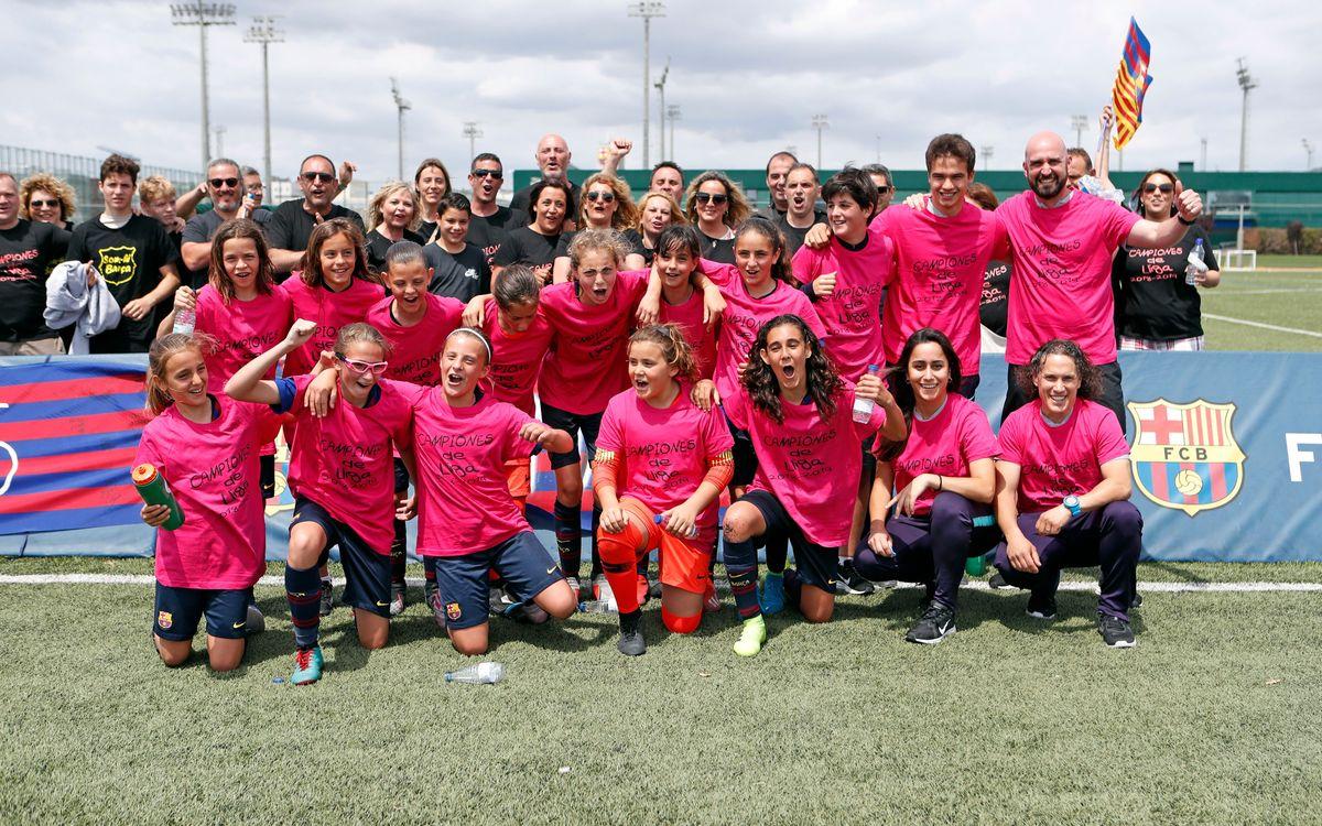 L'Aleví, campió invicte de la Tercera Divisió masculina