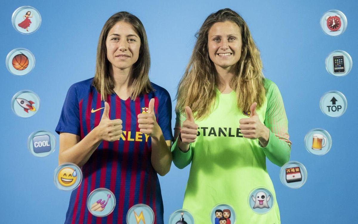Vicky Losada y Sandra Paños definen a sus compañeras a través de los 'Emojis'
