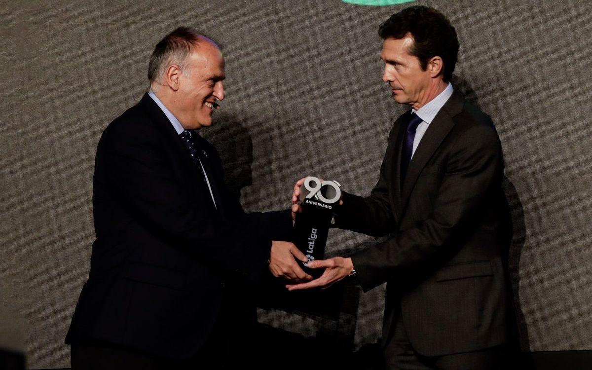 El FC Barcelona, premiat en el 90è aniversari de LaLiga