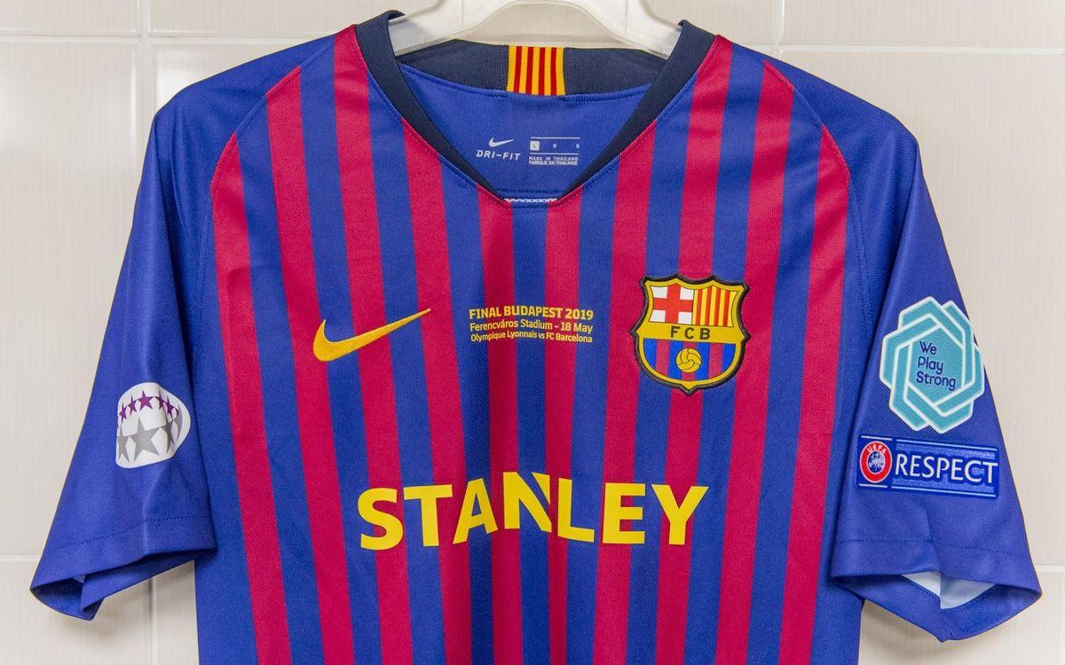 Així serà la samarreta que lluirà el Barça a la final de la UEFA Women's Champions League