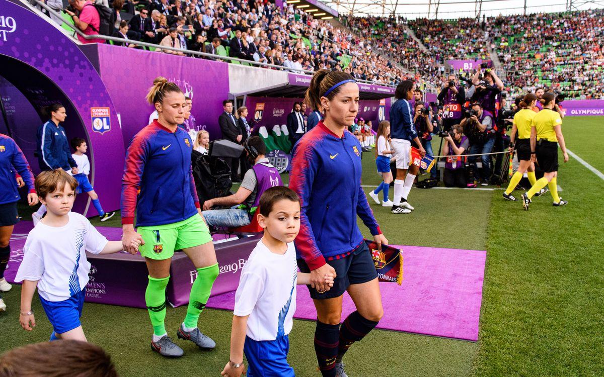 Sandra Paños, Vicky Losada y Alexia Putellas, en el equipo ideal de la Liga de Campeones