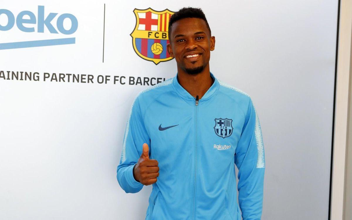 Semedo en la seva arribada a Barcelona