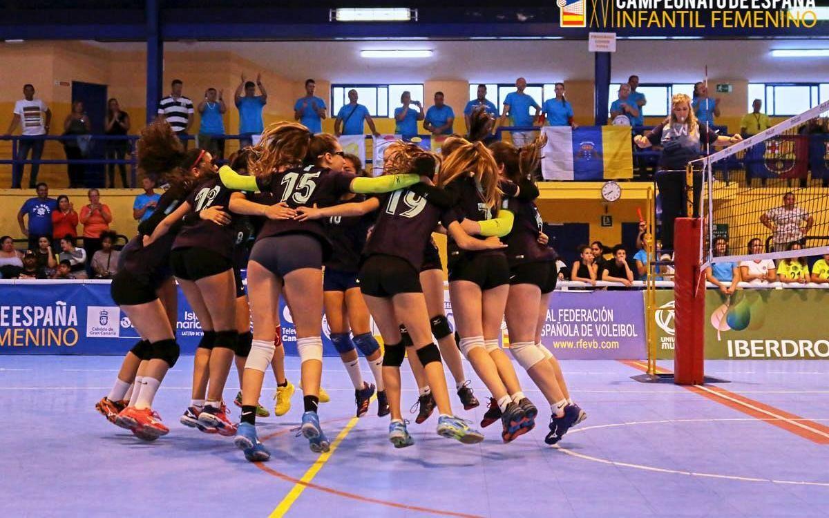 El Barça de voleibol femení, la millor cantera d'Espanya