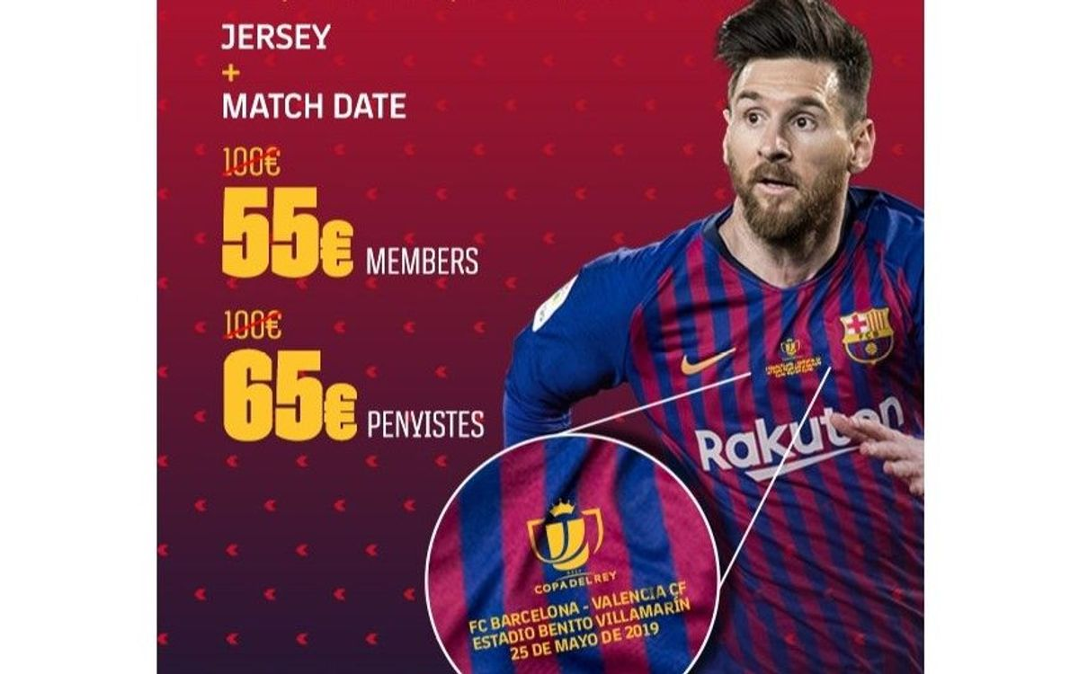 Get yourself a Copa del Rey final Barça shirt
