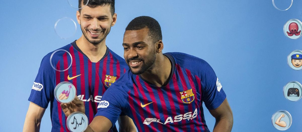 Barça Emojis: Esquerdinha y Arthur