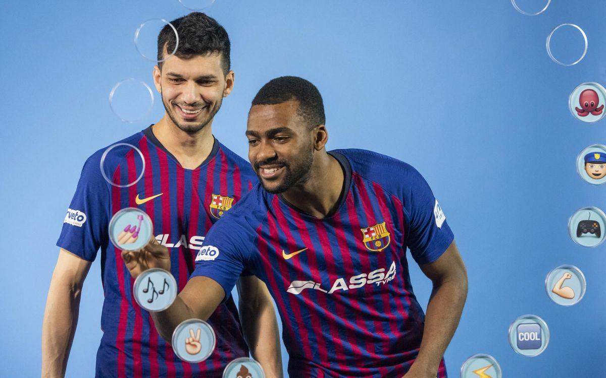Barça Emojis: Esquerdinha i Arthur