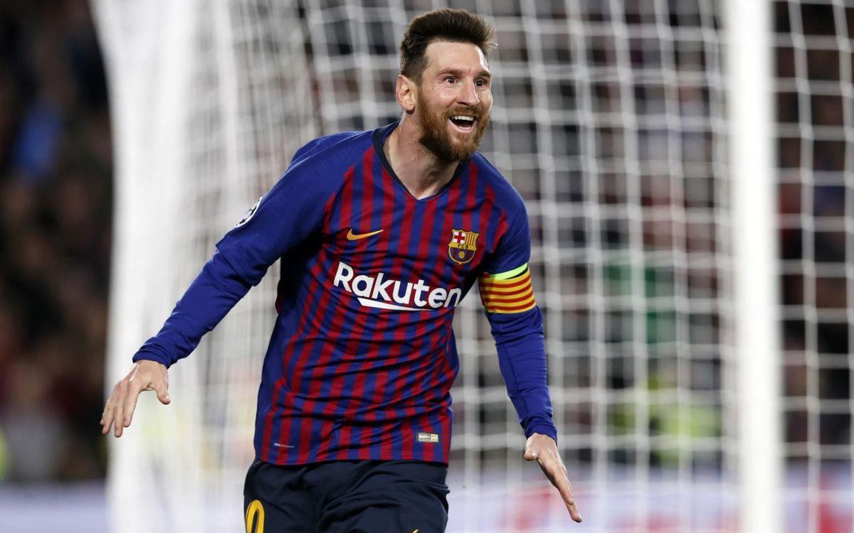 Leo Messi, màxim golejador de la Champions 2018/19