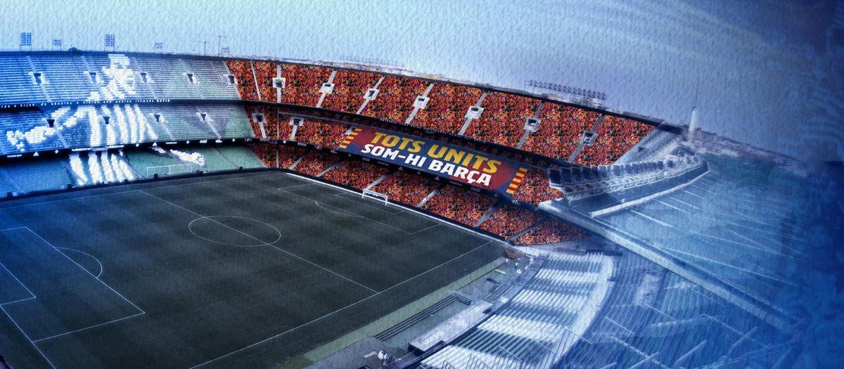 Un tifo motivador y la actividad de la Barça Fan Zone Estrella Damm animarán la previa de la final de Copa