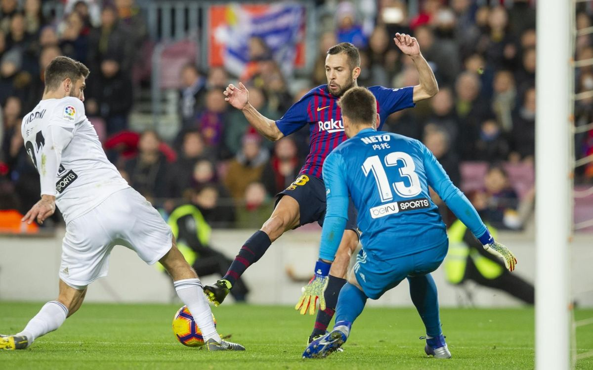 FC Barcelona and Valencia all square this season