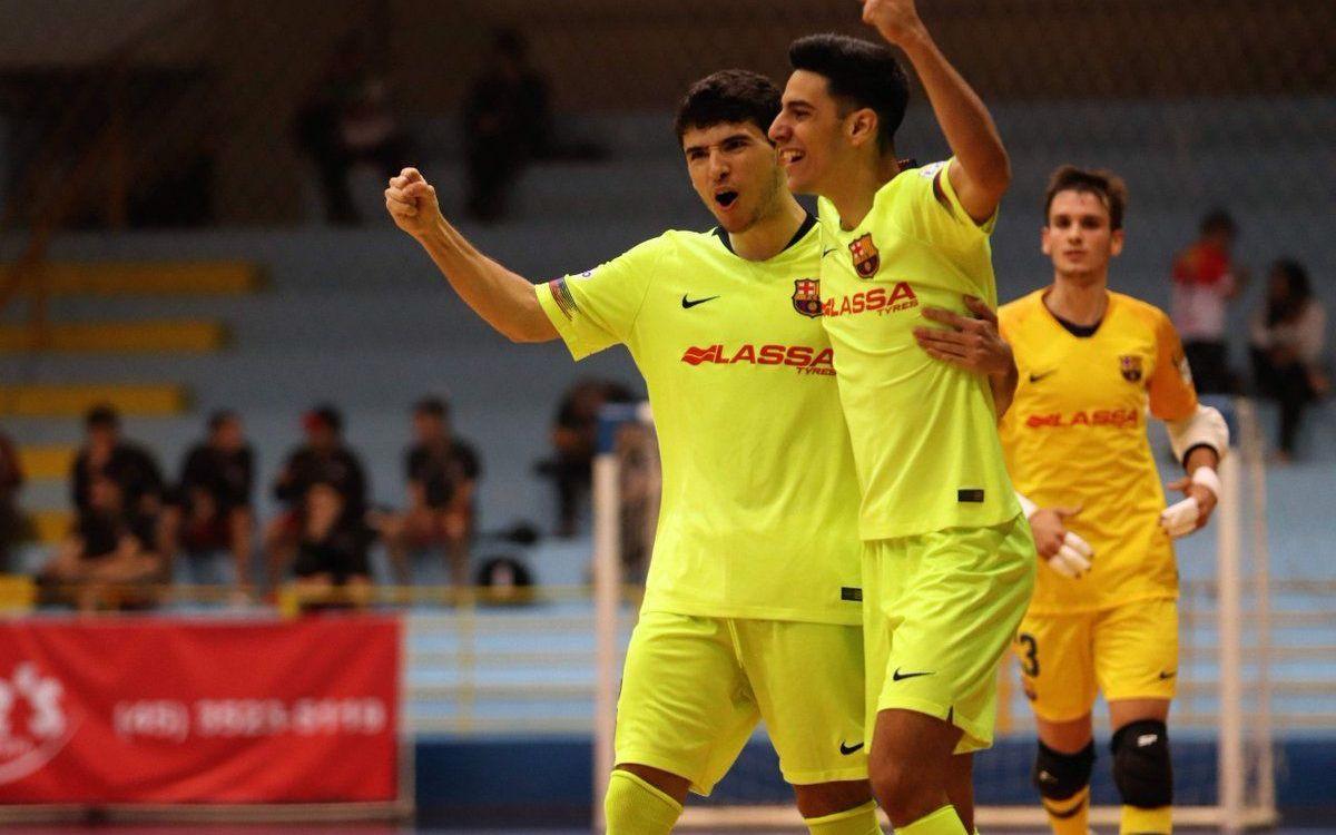 Valoració positiva del Barça Lassa B de futbol sala