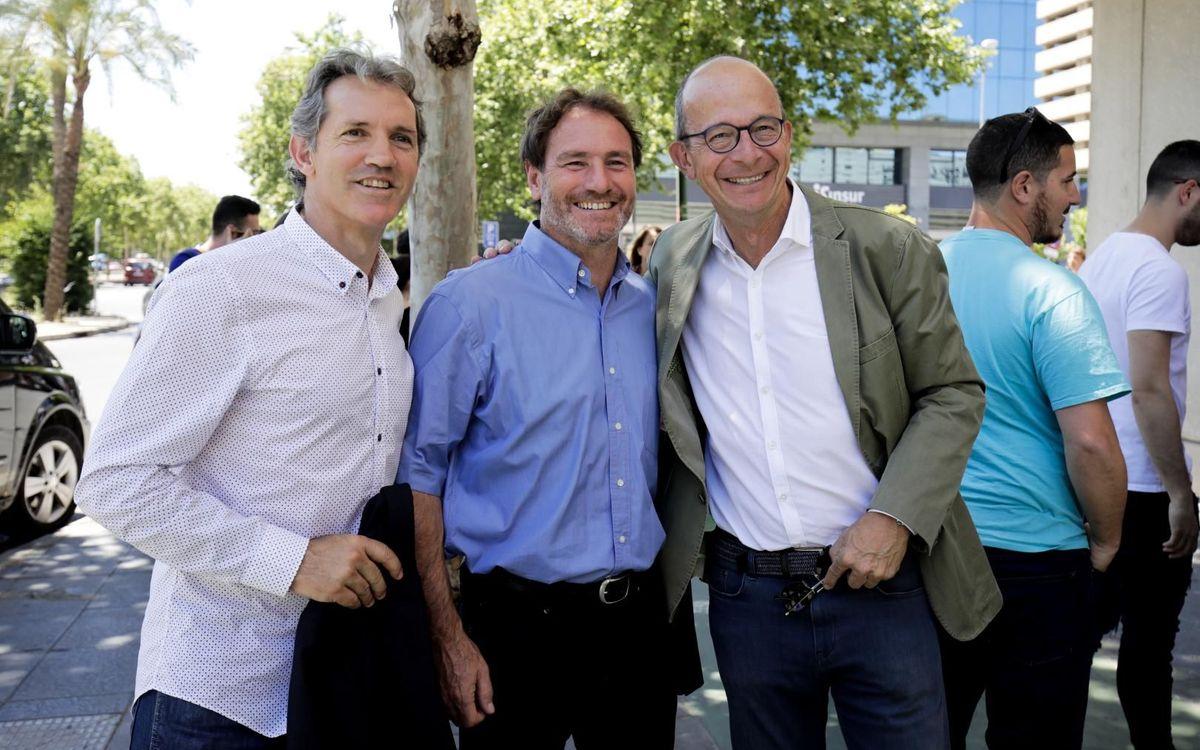 Juan Carlos, Jon Andoni Goikoetxea y el vicepresidente Jordi Cardoner
