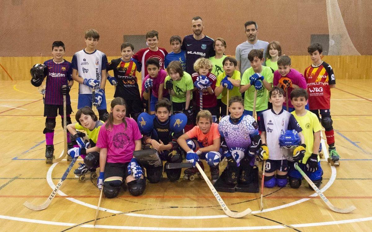 Sergi Panadero promociona el Campus d'hoquei patins a la base de l'Horta