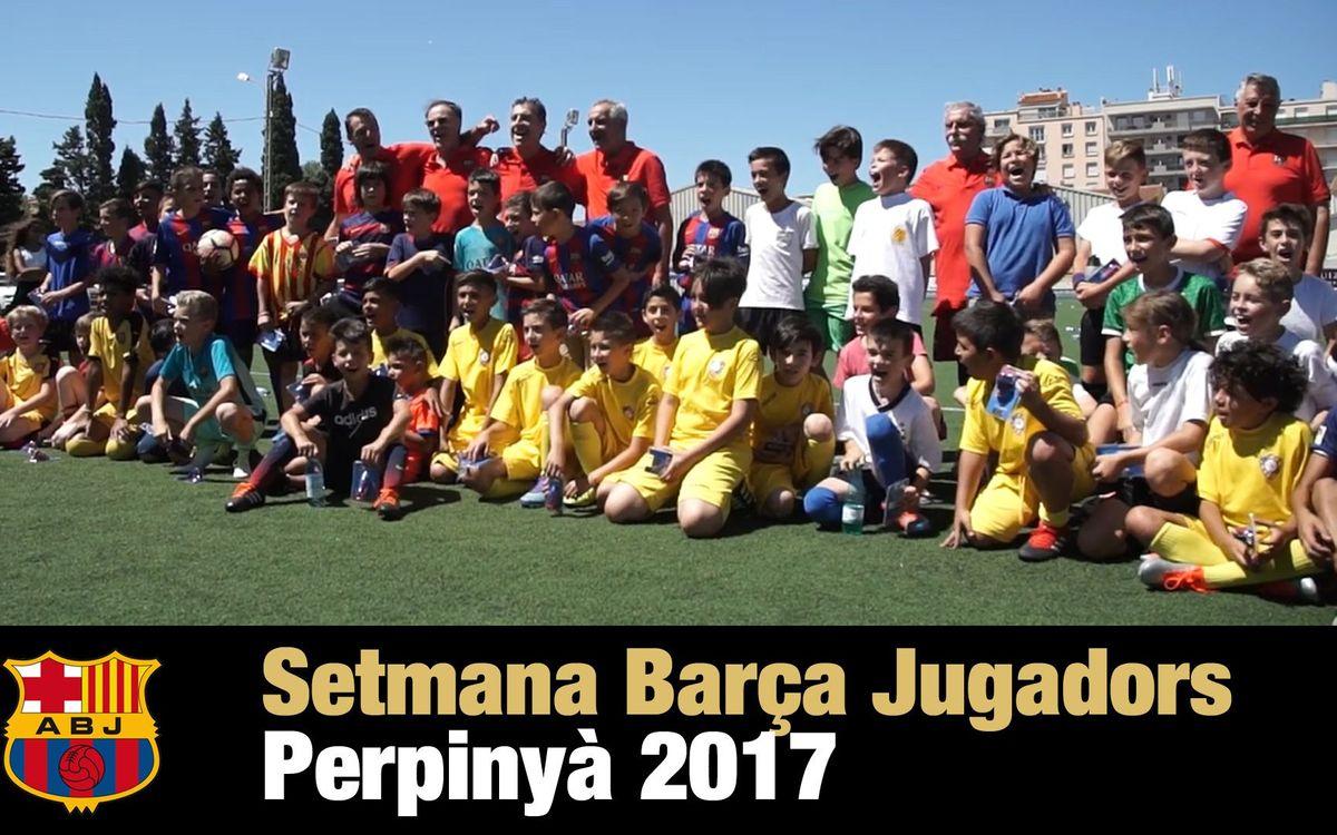 Resum apassionant de la Setmana Barça Jugadors a Perpinyà