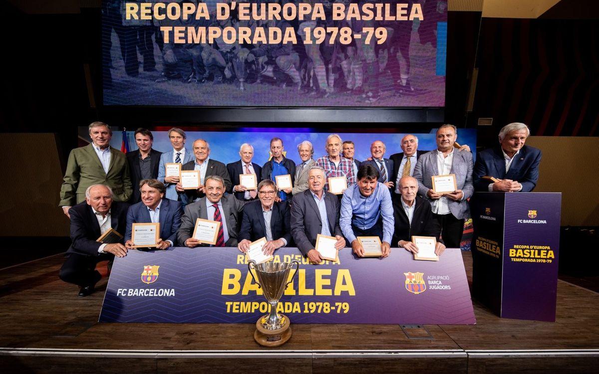 FC Barcelona y la ABJ homenajean los 40 años de Basilea 1979