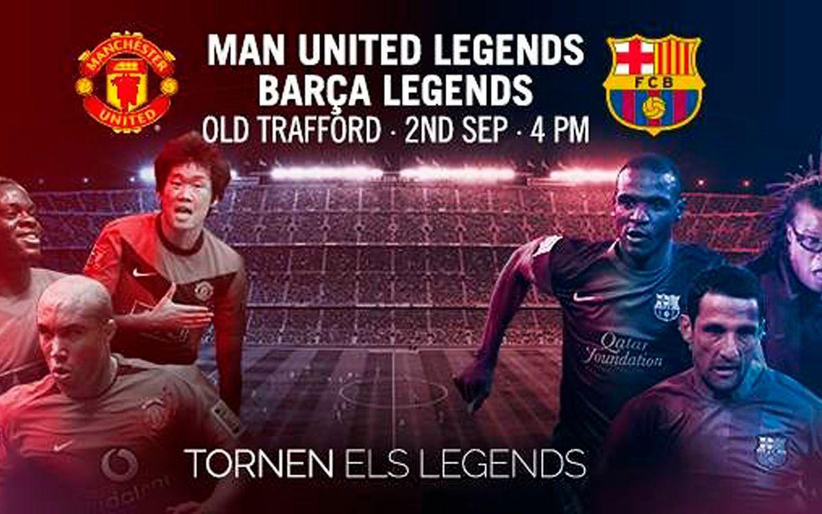 L'Agrupació acompanya els Barça Legends en la seva expedició a Manchester
