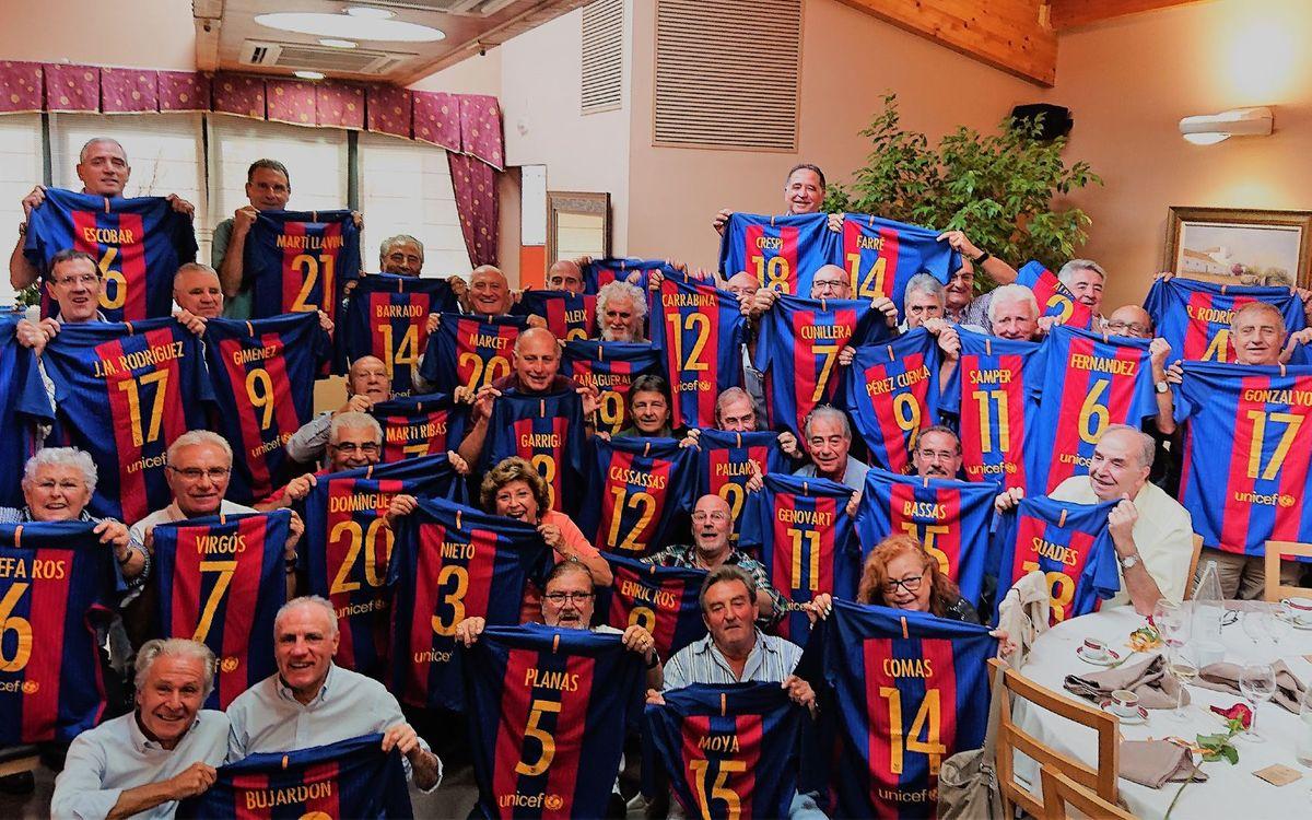 Exjugadors del Barça de categories inferiors es troben a la Val d'Aran