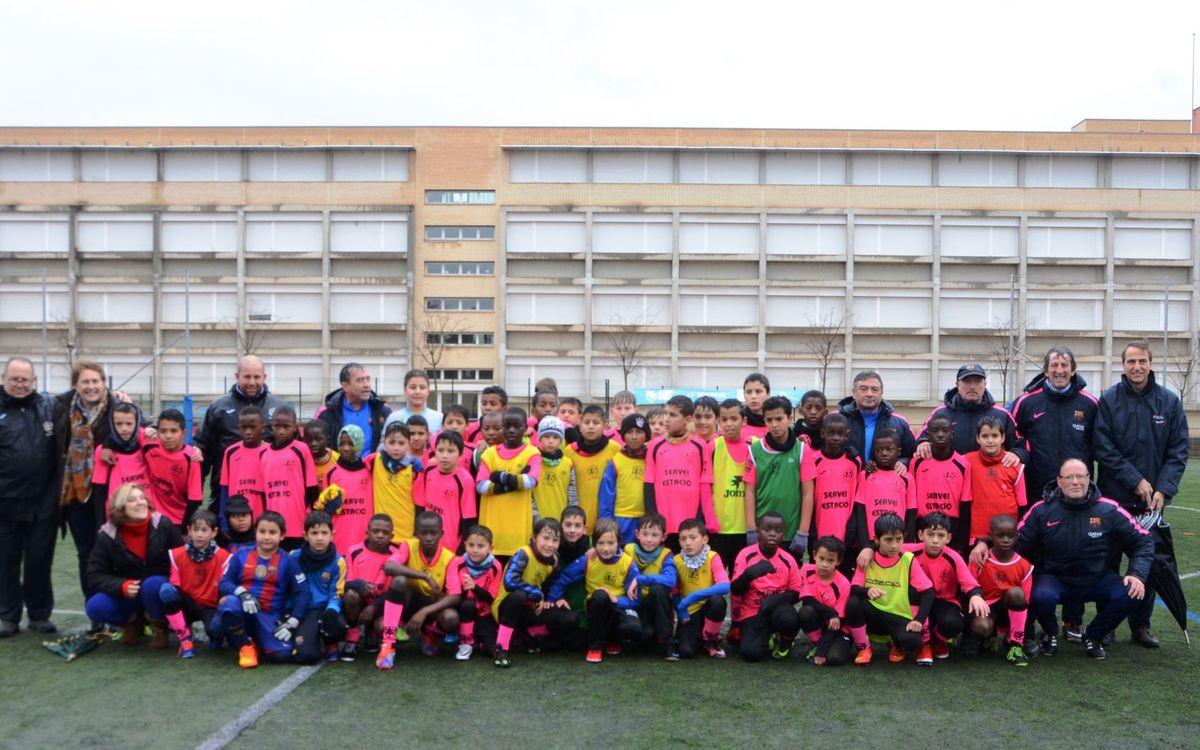 Éxito de la jornada de fútbol solidario en Girona