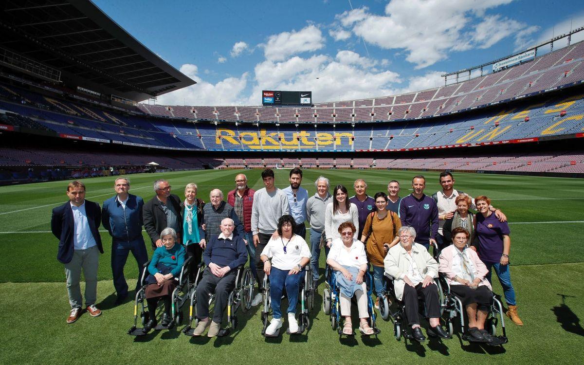 Els Tallers de Reminiscència de l'ABJ tornen a trepitjar el Camp Nou