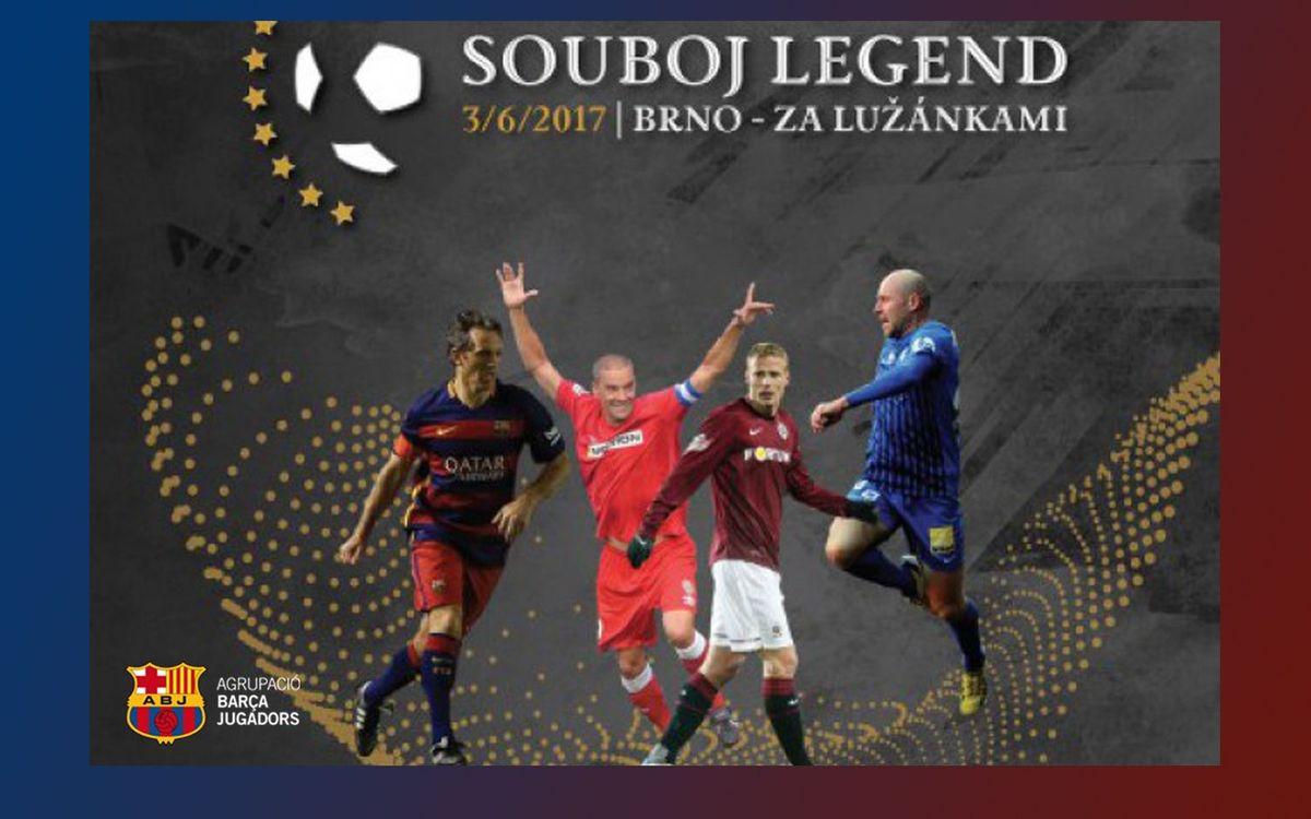 L'Agrupació Barça Jugadors participa dissabte al torneig Souboj Legend a Txèquia