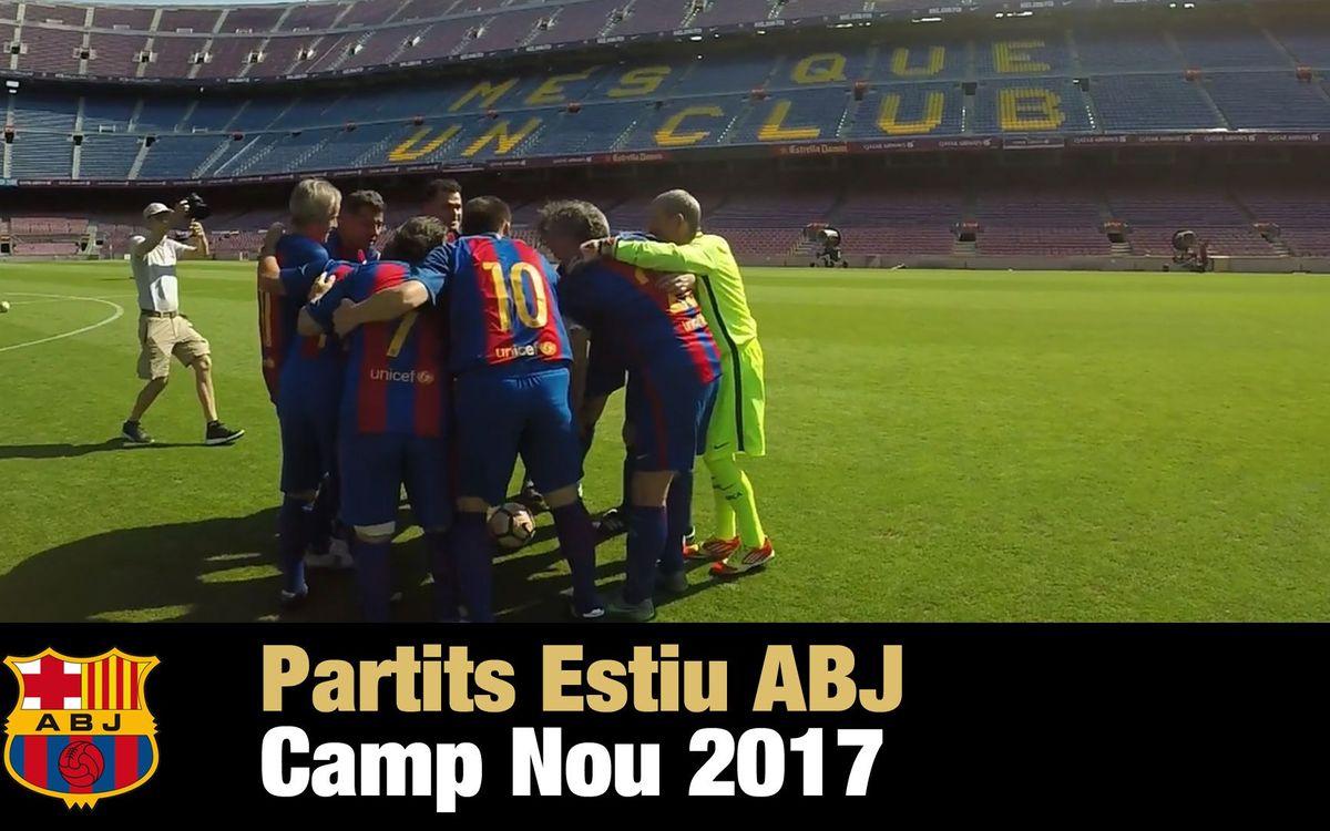 El vídeo de los partidos de verano en el Camp Nou