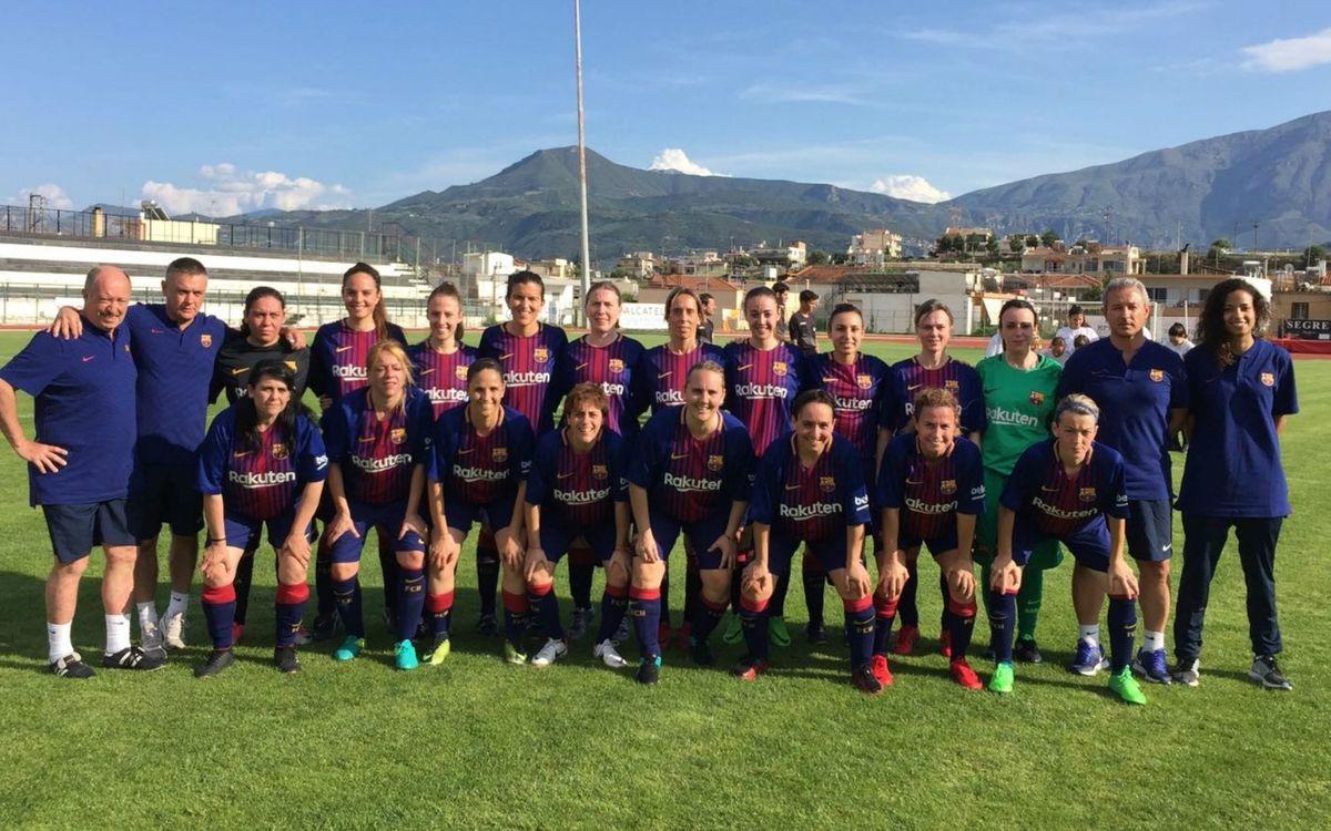 Balance positivo del primer partido internacional del ABJ Femenino, en Grecia