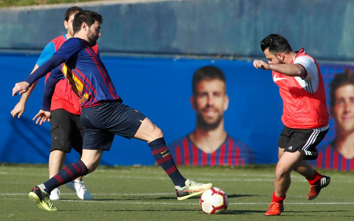 Playing against former Barça players: a great experience