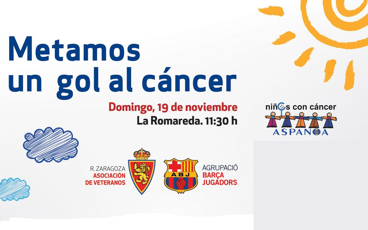 L'Agrupació viatjarà a Saragossa per marcar un gol al càncer infantil