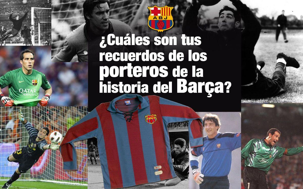 La Crida de l'Agrupació: elige tu mejor recuerdo sobre los porteros de la historia del Barça y gana una camiseta vintage del club