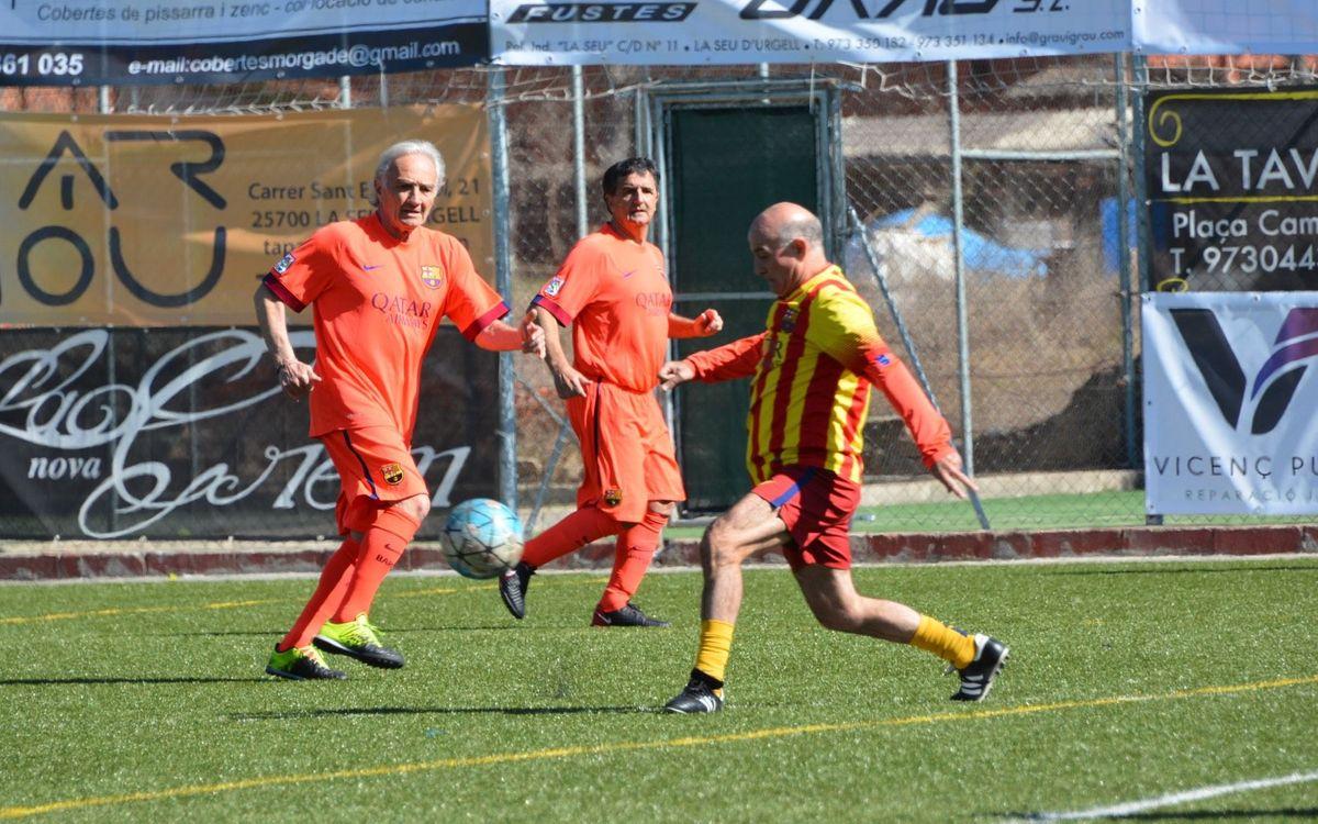 El equipo +55 de la Agrupación juega un Triangular Social en la Seu d'Urgell