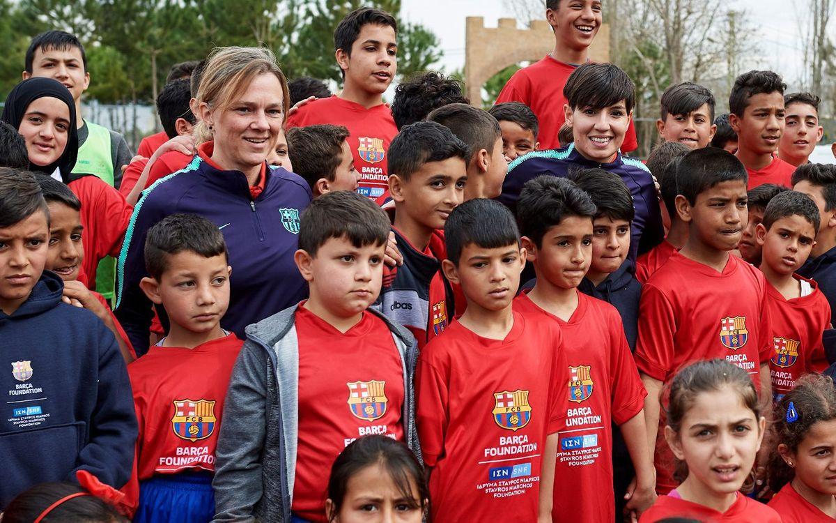 L'ABJ, amb la Fundació Barça al Líban