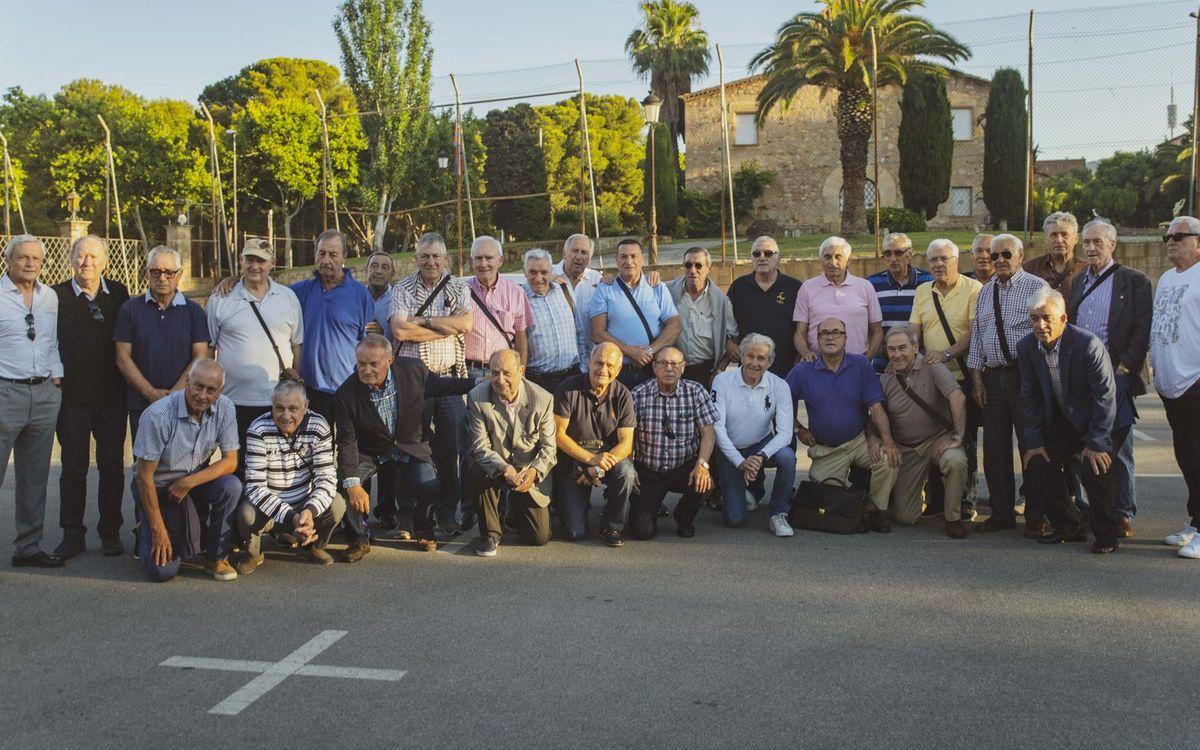 Los exjugadores mayores del primer equipo, juntos a Verona